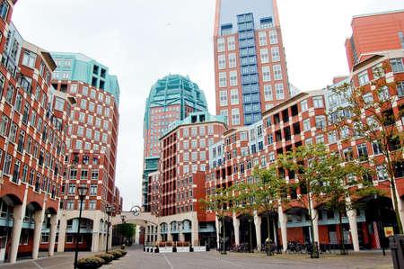 Red buildings in Amsterdam