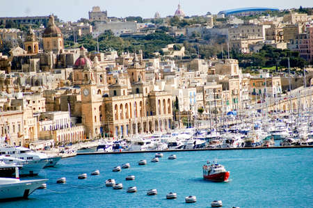 View to Valletta city, capital of Malta