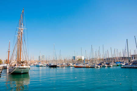 Yachts in Barcelona Stock Photo