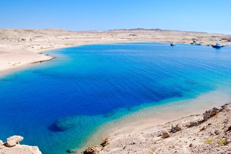 Beautiful bay near Sharm el-Sheikh, Egypt, where there are barracudas photo