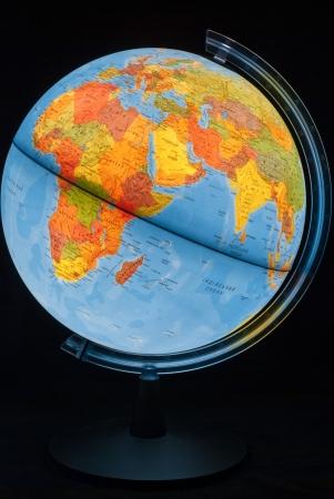 Illuminated globe 스톡 콘텐츠