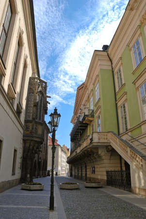 The street of old Prague photo