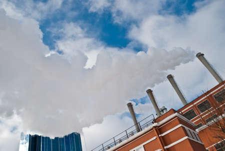 tec: Heat and power plant Stock Photo