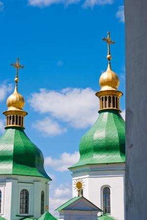 The dome of St  Sophia cathedral, Kiev, Ukraine photo