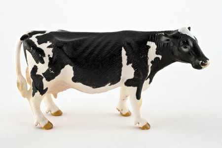 Toy cow isolated on a white background