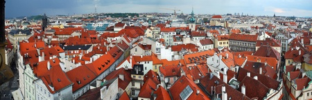 Panoramic view from Old Town Square Tower, Prague photo