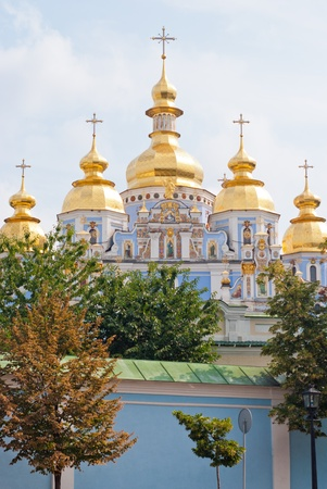 St  Michael s Golden Domed Monastery on the background of blue sky, Kiev Ukraine photo