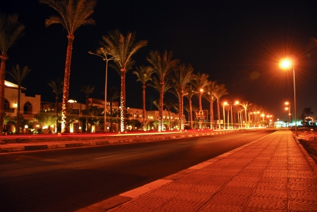 Night view of Sharm el-Sheikh, Sinai, Egypt
