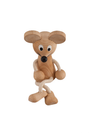 Funny toy mouse on a white background photo