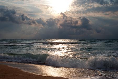 Dramatic sea landscape photo