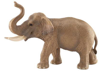 Toy elephant isolated on white  photo