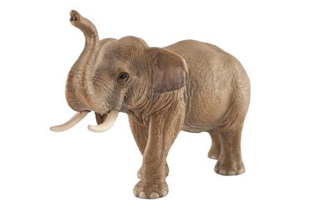 Toy elephant isolated on white  photo