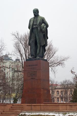 erected: Soviet monument to Shevchenko in Kyiv, erected in 1939 Stock Photo