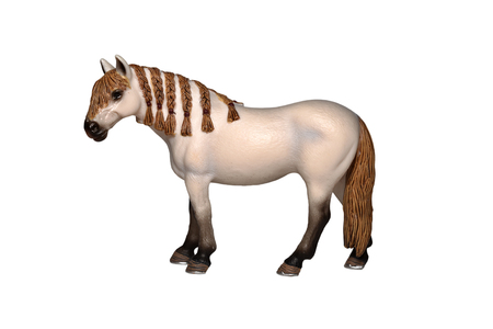 Toy horse isolated on white photo