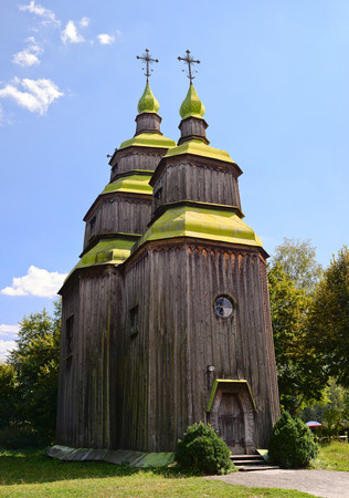 cult: Zarubincy village church, outstanding traditional cult building monument of 18th century Stock Photo