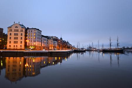 helsinki: Night view of Helsinki, Finland