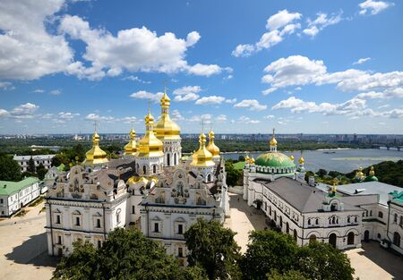 assumption: View of Assumption Church, Lavra, Kiev, Ukraine Stock Photo