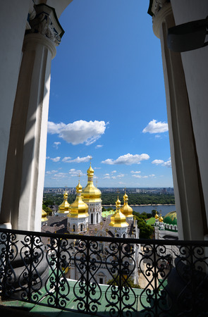 assumption: View from the window on Lavra and Assumption Church, Kiev, Ukraine