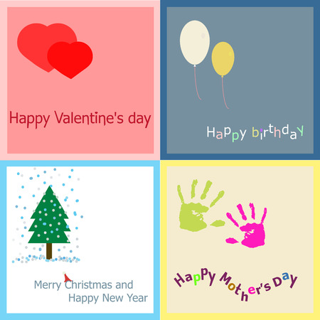 mather: Cute greeting card for birthday, Saint. Valentines Day and New Year