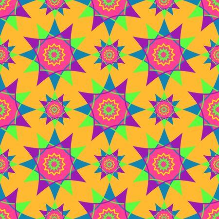spirograph: Bright mosaic spirograph vector background