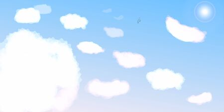 morning sky: Clear morning sky and clouds background
