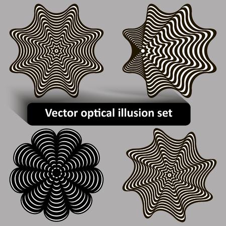 trickery: Black and white optical illusion set