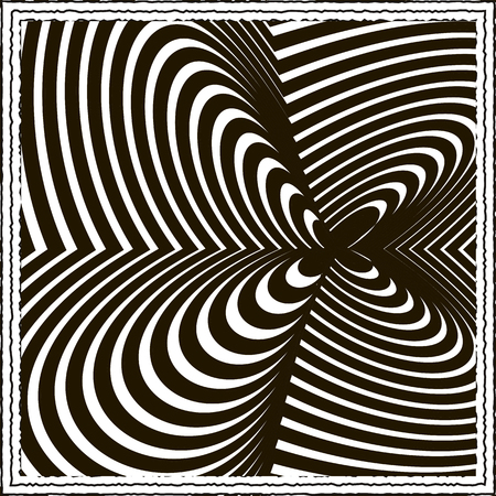 tricky: Black and white optical illusion background