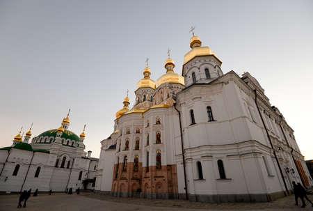 assumption: Evening view of the ancient picturesque Assumption Church, Kiev, Ukraine