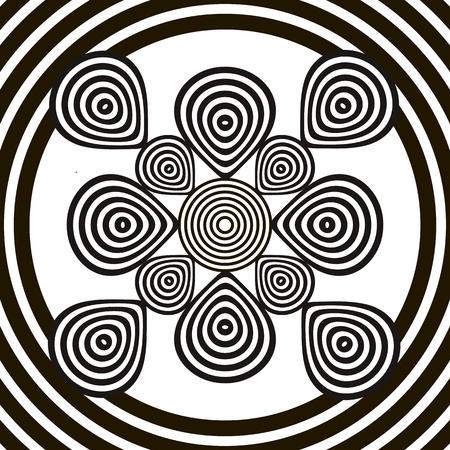 entangled: Black and white optical illusion Illustration