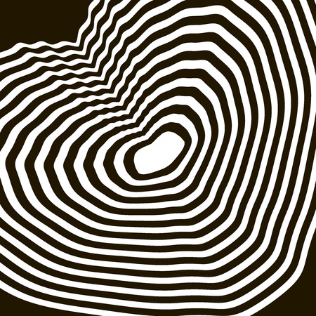 sophisticate: black and white optical illusion geometrical figure heart
