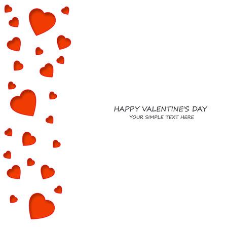 Brillante colorido corazones de papel de vectores de fondo. Vector de corazones de San Valentín. Boda, aniversario, cumpleaños, día de San Valentín, parte de diseño para la bandera, cartel, tarjeta, invitación, cartel, folleto, volante.