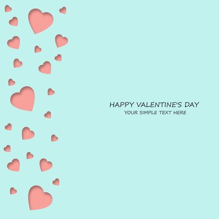 Helle bunte Papier Herzen Vektor Hintergrund. Vector hearts Valentine. Hochzeit, Jubiläum, Geburtstag, Valentinstag, Partei Design für Banner, Plakat, Karte, Einladung, Plakat, Broschüre, Flyer. Vektorgrafik
