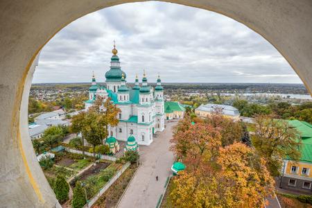 Chernihiv, Ukraine - October 19, 2016: St. Catherines Church, Chernihiv Ukraine Europe European cultural monuments.Early 18th century. Chernihiv is one of oldest cities of Kievan Rus