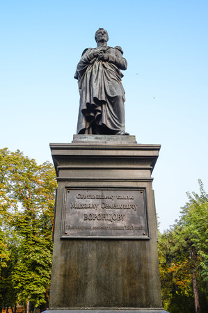 princes street: Odessa, Ukraine - July 15, 2016: Monument to the governor of New Russia Prince Mikhail Vorontsov located in the Soborna Square. The second monument in Odessa, opened in 1863. Odessa, Ukraine Europe Editorial