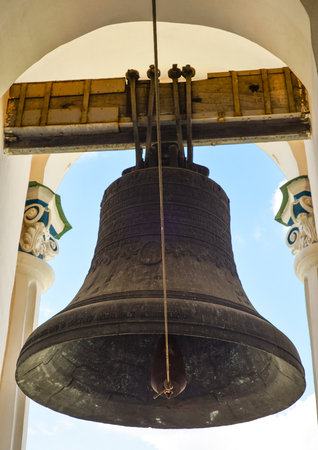 Kiev, Ukraine - April 15, 2017: Kiev Pechersk Lavra and giant bell on the Great Lavra Bell Tower, Kiev Ukraine