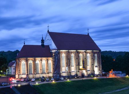 Kaunas, Lithuania - August 24, 2017: Kaunas Castle and dramatic sky, Kaunas, Lithuania Editorial