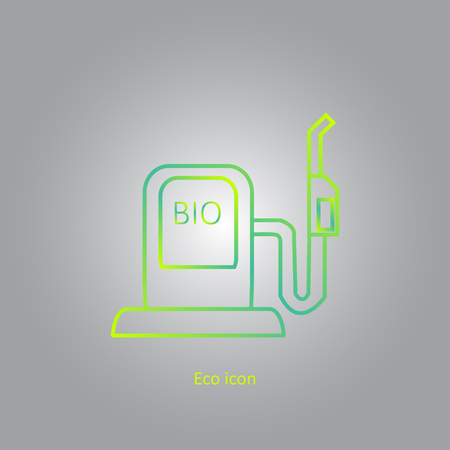 Gradient icon of car filling station. Alternative renewable electricity generation. Isolated bio filling station design element in trendy style. Eco concept.