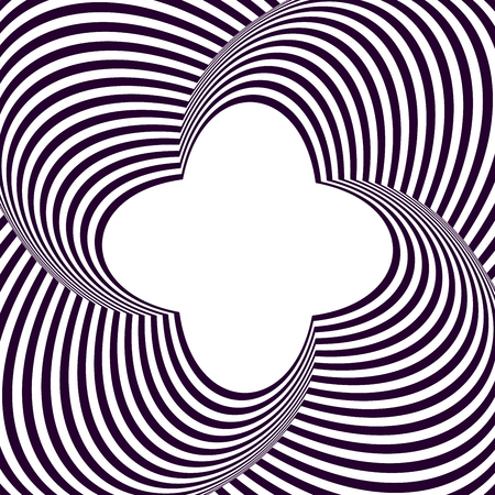 Optical illusion 3d background. Modern geometric background.