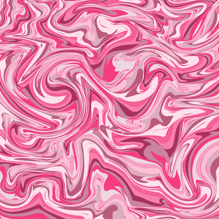 Marble or ink pink pattern. Wavy stripes colorful bright painted vector background. Abstract fashion texture. Graphic style for wallpaper, wrapping, fabric, background, apparel, print, banner Standard-Bild - 101470868