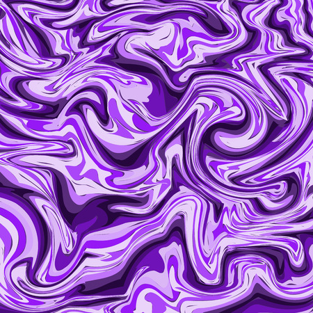 Purple marble or ink pattern. Wavy stripes colorful bright painted vector background. Abstract fashion texture. Graphic style for wallpaper, wrapping, fabric, background, apparel, print, banner