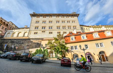 Prague, Czech Republic - October 10, 2017: View on old Schwarzenberg Palace, Prague, Czech Republic. Prague old town. Standard-Bild - 101998867