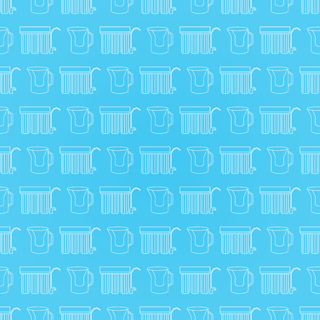 Water filter seamless pattern. Vector background. Illustration