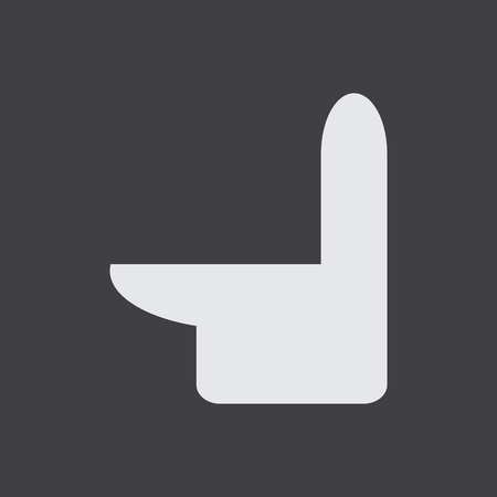 Toilet bowl vector icon. Isolated toilet sign symbol. WC