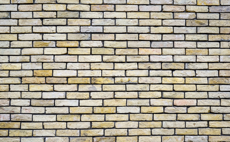 Light brick wall background. Texture of a brick wall. Modern wallpaper design for web or graphic art projects. Abstract background for business cards and covers. Template or mock up. Standard-Bild - 110698802