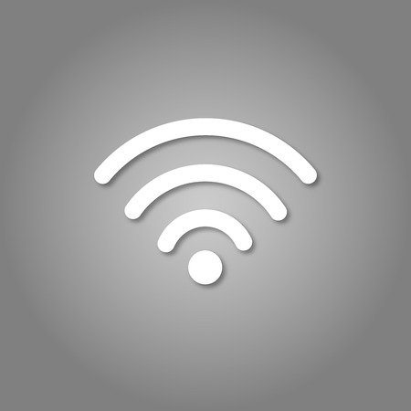 Wi-fi icon. Isolated 3d wifi vector icon. Paper cut art style. Wireless internet access symbol Standard-Bild - 110801198