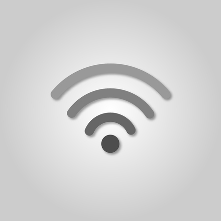 Wi-fi icon. Isolated 3d wifi vector icon. Paper cut art style. Wireless internet access symbol Standard-Bild - 110801201