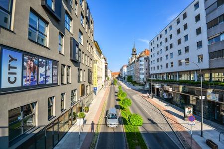 Maribor, Slovenia - May 20, 2018: City Maribor Hotel in City Centre of Maribor, Slovenia Standard-Bild - 110937541