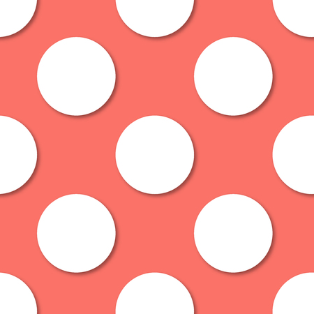 Polka dots seamless pattern. 3d vector background. Illustration