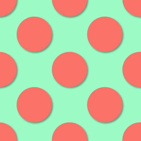Polka dots seamless pattern. 3d vector background. Çizim