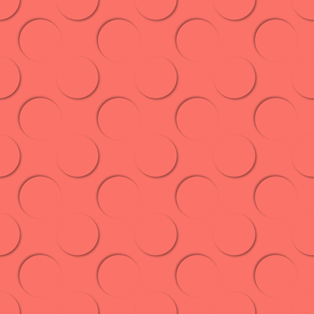 Polka dots seamless pattern. 3d vector background